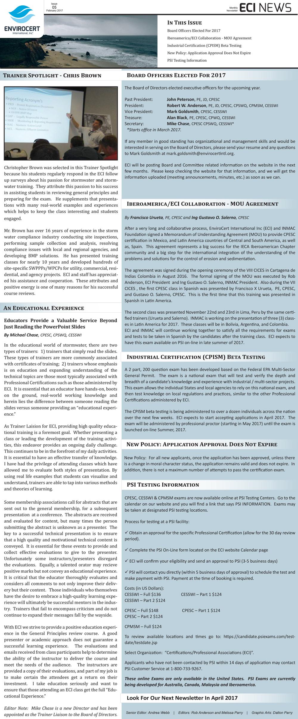 ECI News